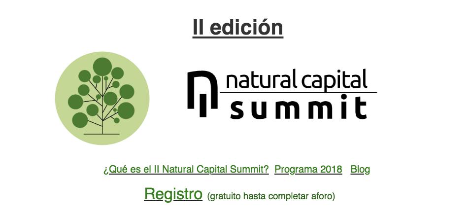 Cabecer boletín Natural Capital Summit 2018